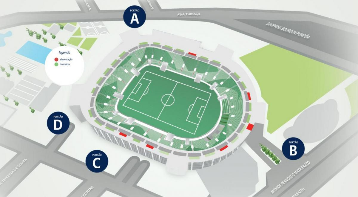 Mapa de Allianz Parque - Nivel 5